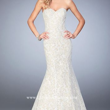 Sequin Lace Mermaid Gown by La Femme