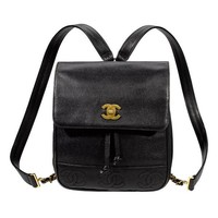 Chanel Vintage Leather Backpack