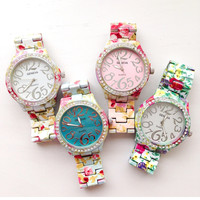 Fresh Garden Flower Metal Watches #W71