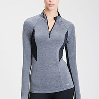 Mesh-Paneled Cardio Pullover