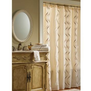 Croscill® Dante Fabric Shower Curtain in Champagne