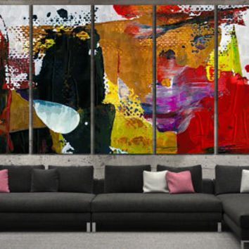 Abstract Painting Large Wall Art - Oil Paints Canvas Print for Home of Office Decoration, Abstract Digital Giclee