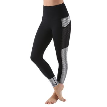 Women's Active Long Yoga Compression Leggings - Black