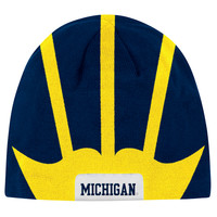 The M Den -  Adidas University of Michigan Football Helmet Knit Hat