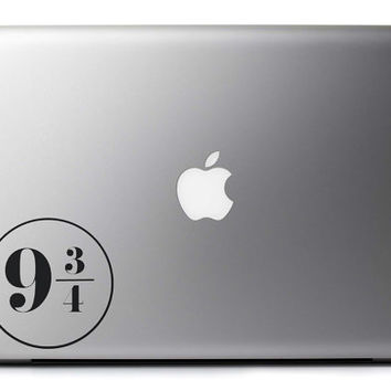 Platform 9 3/4 Harry Potter Inspired Vinyl Decal : Laptop MacBook Sticker King's Cross Station