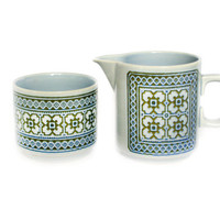 Hornsea Tapestry Pattern Milk Jug and Sugar Bowl - 1980s