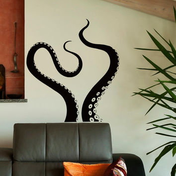 Wall Decal Octopus Tentacles Vinyl Stickers Sea Animal Kraken Art Home Decor Housewares Design Interior Wall Mural Living Room Bedroom C073