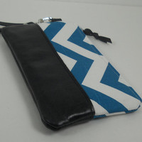Wristlet Wallet, Leather Wristlet, Cell Phone Wristlet, iPhone Wristlet, Leather Purse, Chevron Wallet, Clutch Purse, Card Wallet
