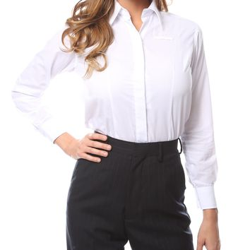 Womens Classic White Dress Shirt