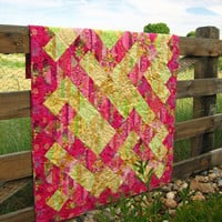 Spring Beauty Handmade Quilt Lap Quilt Wall by PatchworkMountain