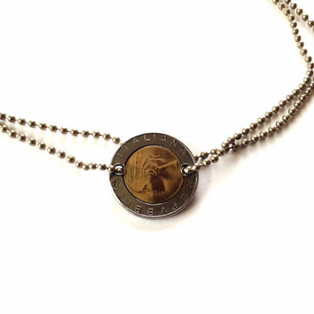 Coin Jewelry Set - Coin Necklace - Coin Ring - Coin Earrings- Italian Lyre Jewelry - Mother Gift - Handmade Gift - Girlfriend Gift - Father