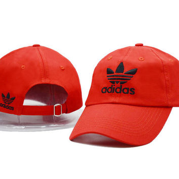 Red Adidas Logo Cotton Baseball Golf Sports Cap Hats