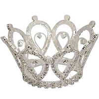 Crazy K&A Mini Charming Rhinestone Tiara Crown Headband Comb Pin Waterdrop Style