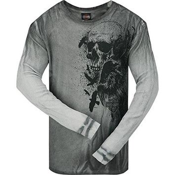 Harley-Davidson Long-Sleeve Thermal Shirt - Crow Skull | Camp Leatherneck XL