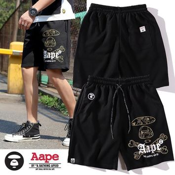 DCCK 1475 aape Hot pants with crossed bones