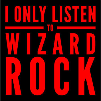 Wizard Rock Vinyl Sticker