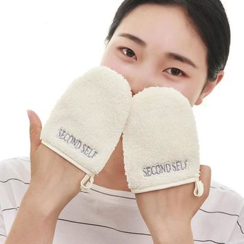 1 PCS Not a Pair Reusable Makeup Remover Gloves Microfiber Facial Cloth Face Towel Make up Remover Cleansing Glove Tool Z3