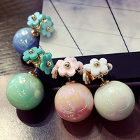 Simple Daisy Pearl Charming Earring