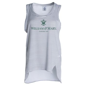 Official NCAA College of William & Mary Tribe Women's Stripe Ath Lesiure Tank Top