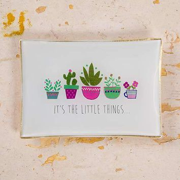 Its The Little Things Glass Tray By Natural Life