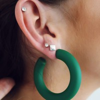 Come Away With Me Earrings: Hunter Green