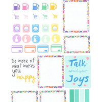 35 Vibrant Bloom Planner Stickers for Erin Condren, Inkwell Press, Plum, Filofax, Kik ki-k and other planners.