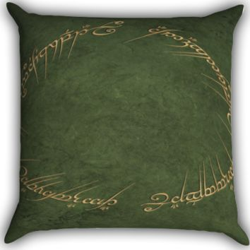 elvish script lordoftherings Zippered Pillows  Covers 16x16, 18x18, 20x20 Inches