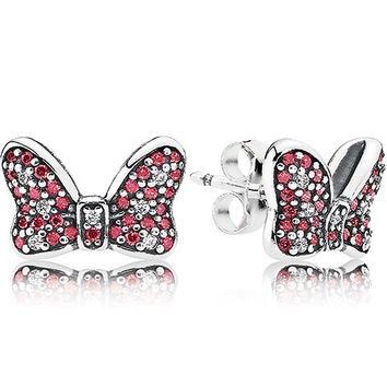 DISNEY Minnie's Sparkling Bow Earring Studs