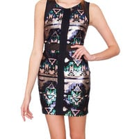 Skylights Body-Con Dress - Black Sequins