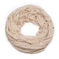 Sole Society Metallic Dot Infinity Scarf