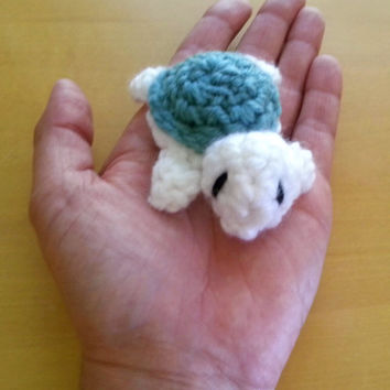 Crochet amigurumi turtle, mini crochet animal, tiny turtle, stuffed animal, plush toy