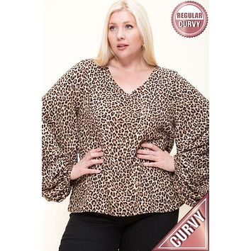 Wild About This Curvy Blouse