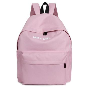 Girls Unisex Canvas Rucksack Backpack School Book Shoulder Bag