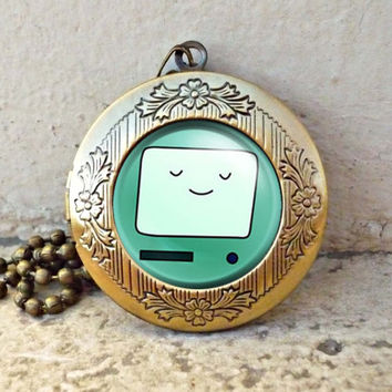 Bmo adventure time vintage pendant locket necklac ready for gifting