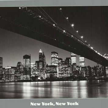 New York Brooklyn Bridge Poster 24x36