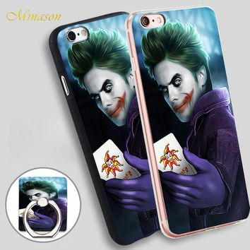 Minason New Joker Mobile Phone Shell Soft TPU Silicone Case Cover for iPhone X 8 5 SE 5S 6 6S 7 Plus