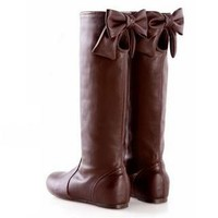 YESSTYLE: Smoothie- Bow-Accent Cutout Tall Boots - Free International Shipping on orders over $150