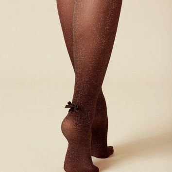 Glitzy Stockings Black And Gold