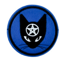 Black Cat Pentagram Patch Iron on Applique Alternative Clothing