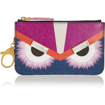 Fendi - Monster embellished printed textured-leather bag charm