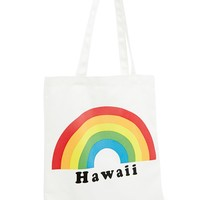Rainbow Hawaii Graphic Tote Bag