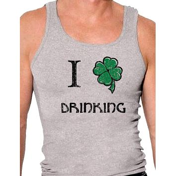 I Shamrock Drinking Mens A-Shirt Ribbed Tank Top