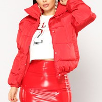 Camila Puffer Jacket - Red