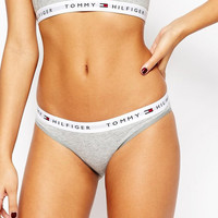 """Tommy Hilfiger "" Tank Top Underwear Thongs Silver Briefs Solid Panties Lingerie Set"