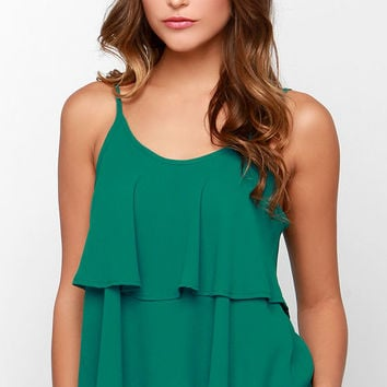 Lend Me Your Tiers Green Tank Top