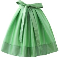 Light Up A- Line Skirt in Neon Green