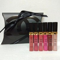 DCCK7HE Perfect YSL Lip Gloss 6 Pieces