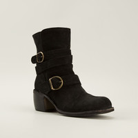 Fiorentini + Baker Black Buckled Boots
