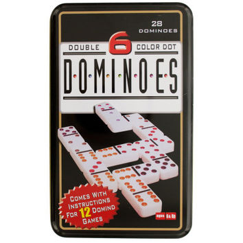 Double 6 Color Dot Dominoes Game Set: Case of 12