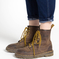 Vintage 90s Brown Leather Dr Martens Chunky Ankle Boots | 7.5